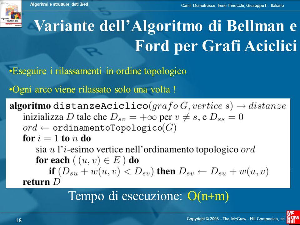 Variante dell'Algoritmo di Bellman e Ford per Grafi Aciclici