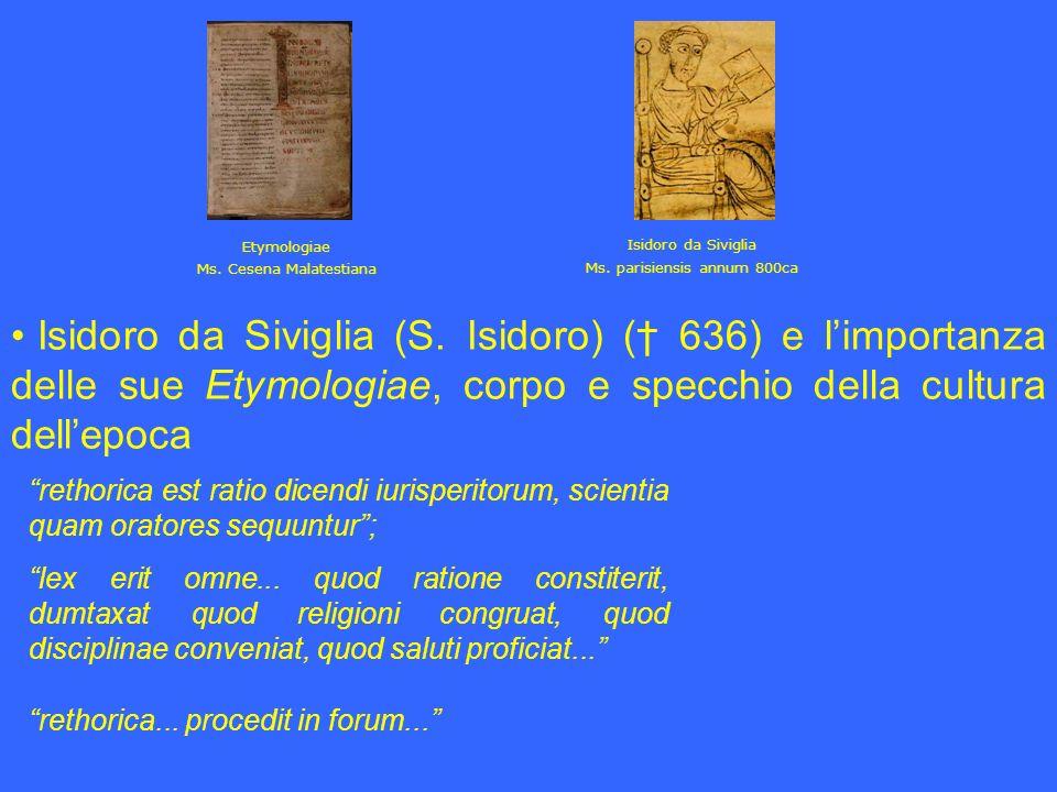 Isidoro da Siviglia Ms. parisiensis annum 800ca. Etymologiae. Ms. Cesena Malatestiana.