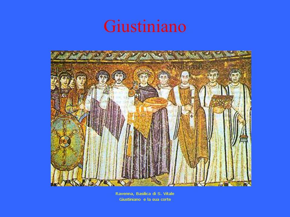 Ravenna, Basilica di S. Vitale Giustiniano e la sua corte