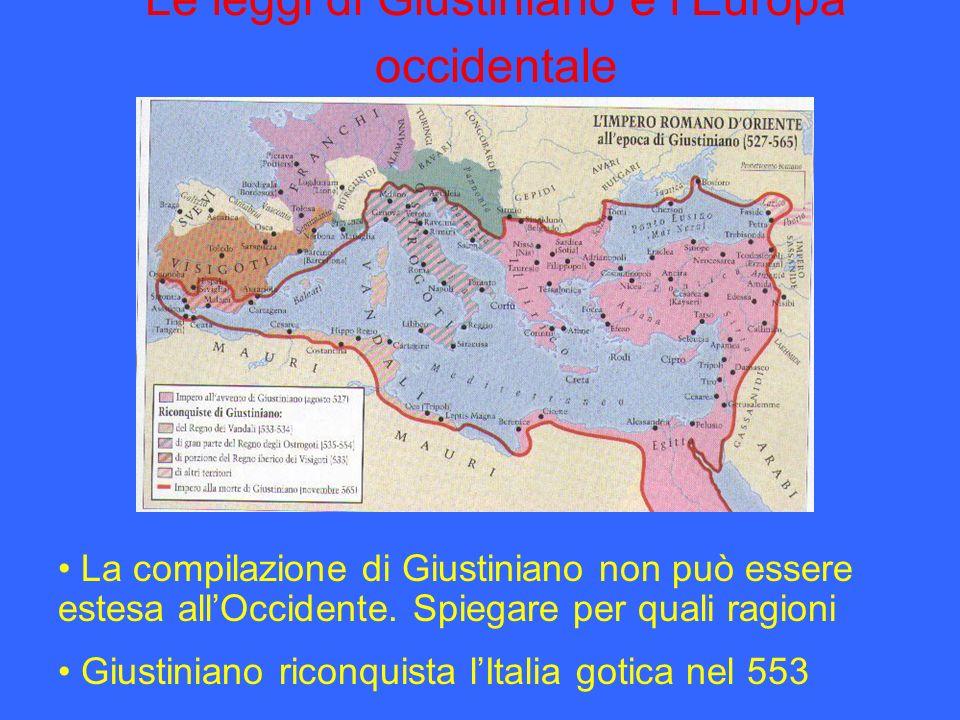 Le leggi di Giustiniano e l'Europa occidentale