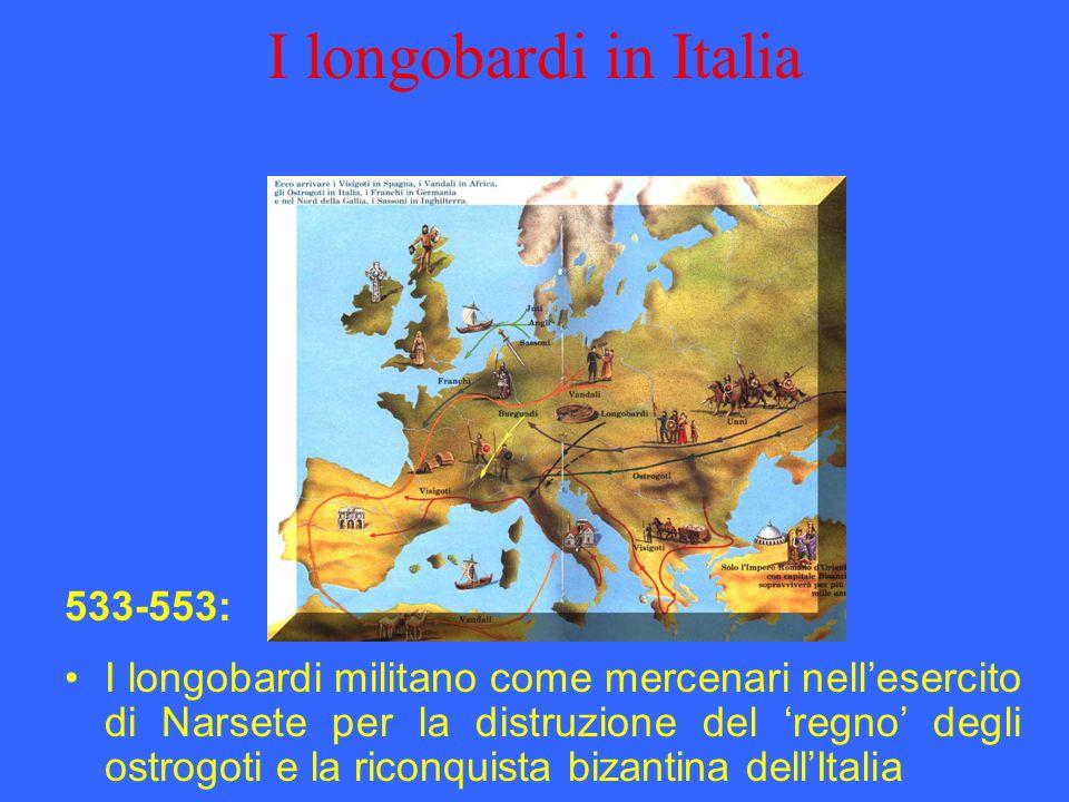 I longobardi in Italia 533-553: