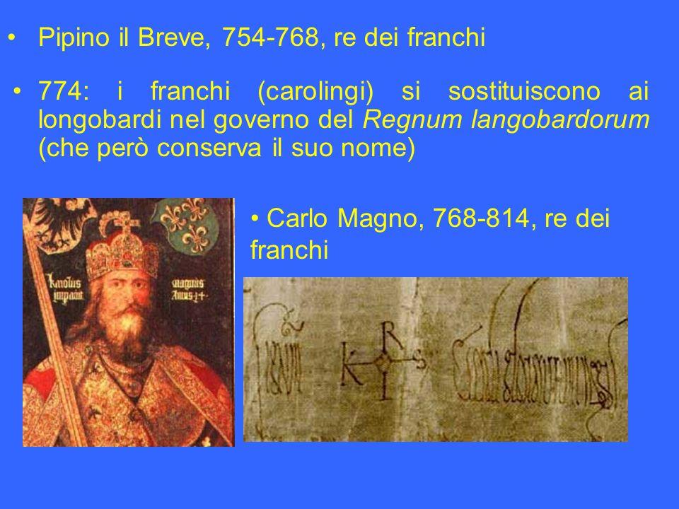 Pipino il Breve, 754-768, re dei franchi