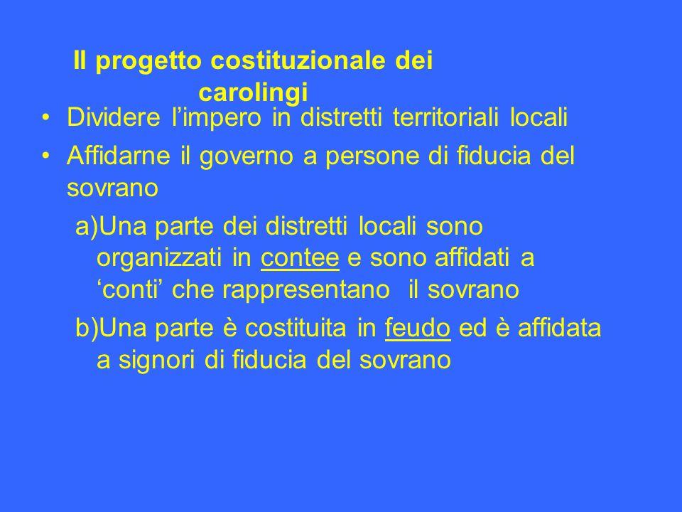 Il progetto costituzionale dei carolingi