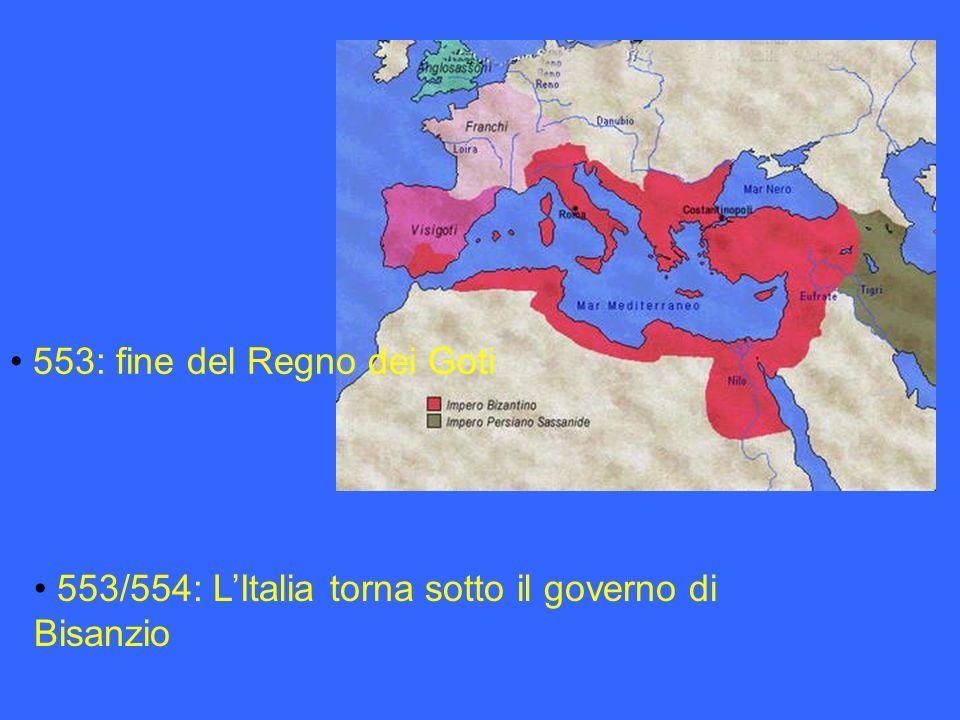 553: fine del Regno dei Goti