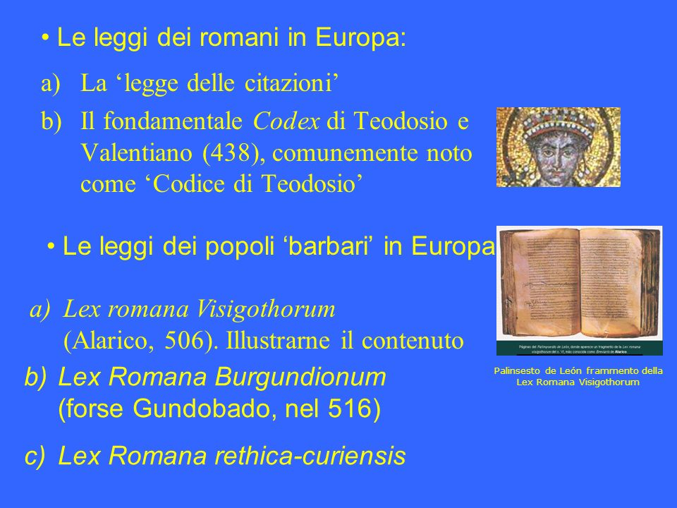 Palinsesto de León frammento della Lex Romana Visigothorum