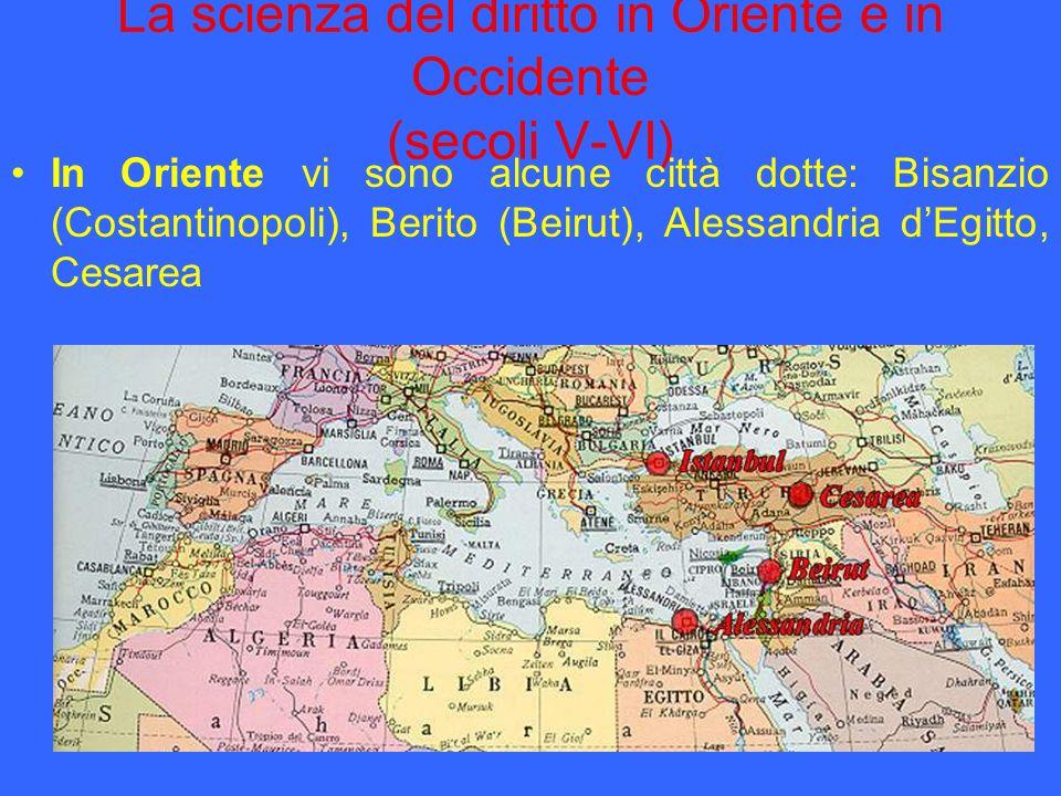 La scienza del diritto in Oriente e in Occidente (secoli V-VI)
