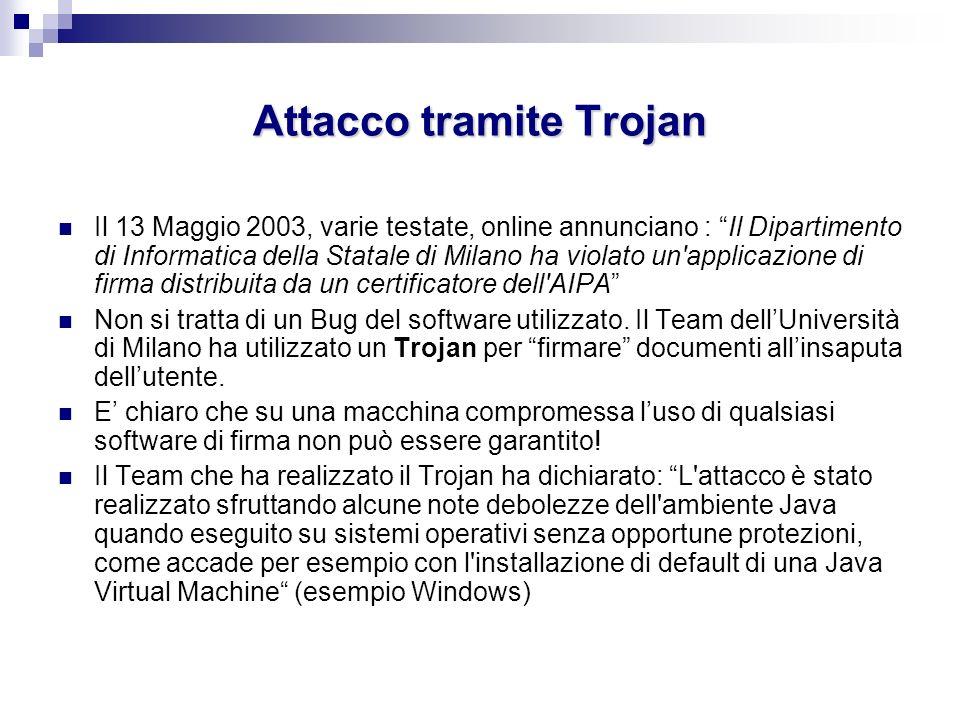 Attacco tramite Trojan