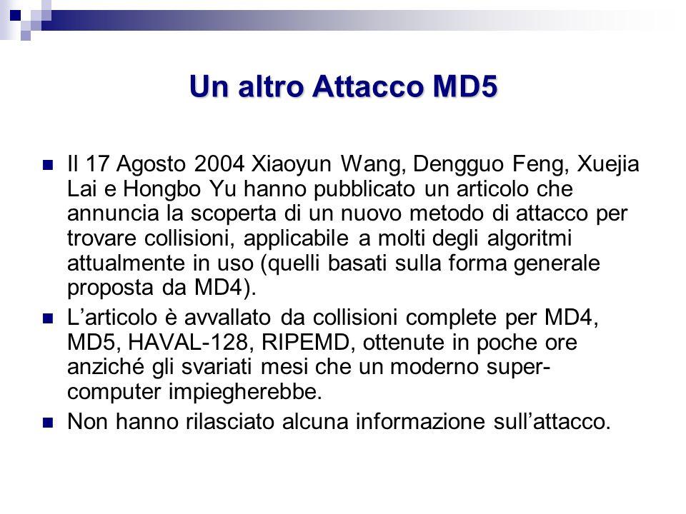 Un altro Attacco MD5