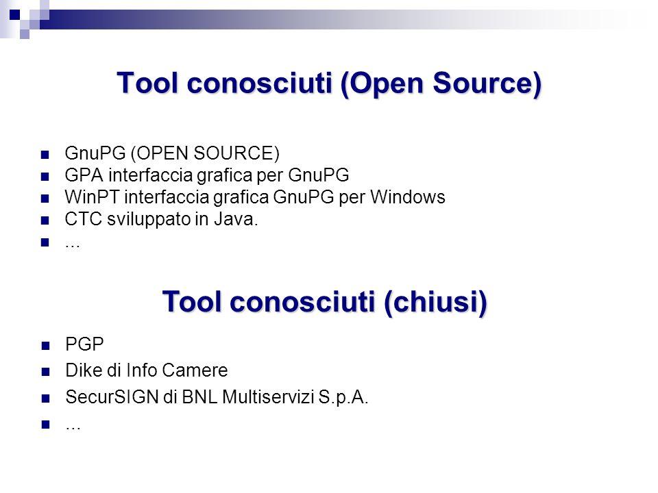 Tool conosciuti (Open Source)