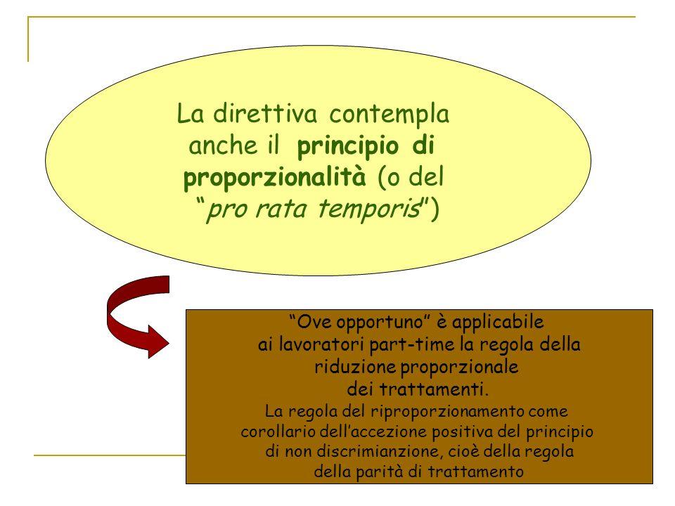 La direttiva contempla anche il principio di proporzionalità (o del