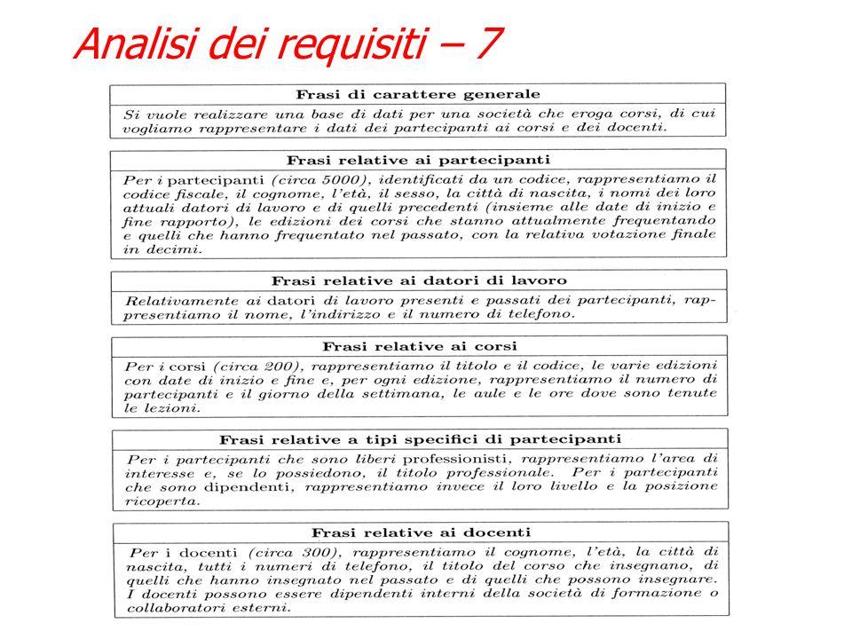 Analisi dei requisiti – 7