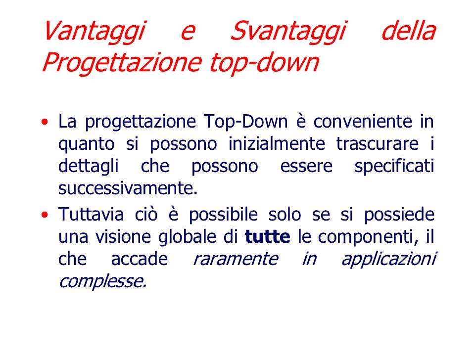 Vantaggi e Svantaggi della Progettazione top-down