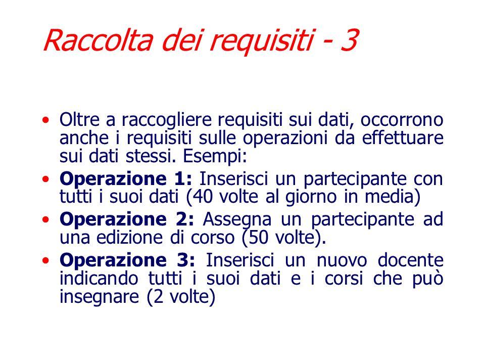Raccolta dei requisiti - 3