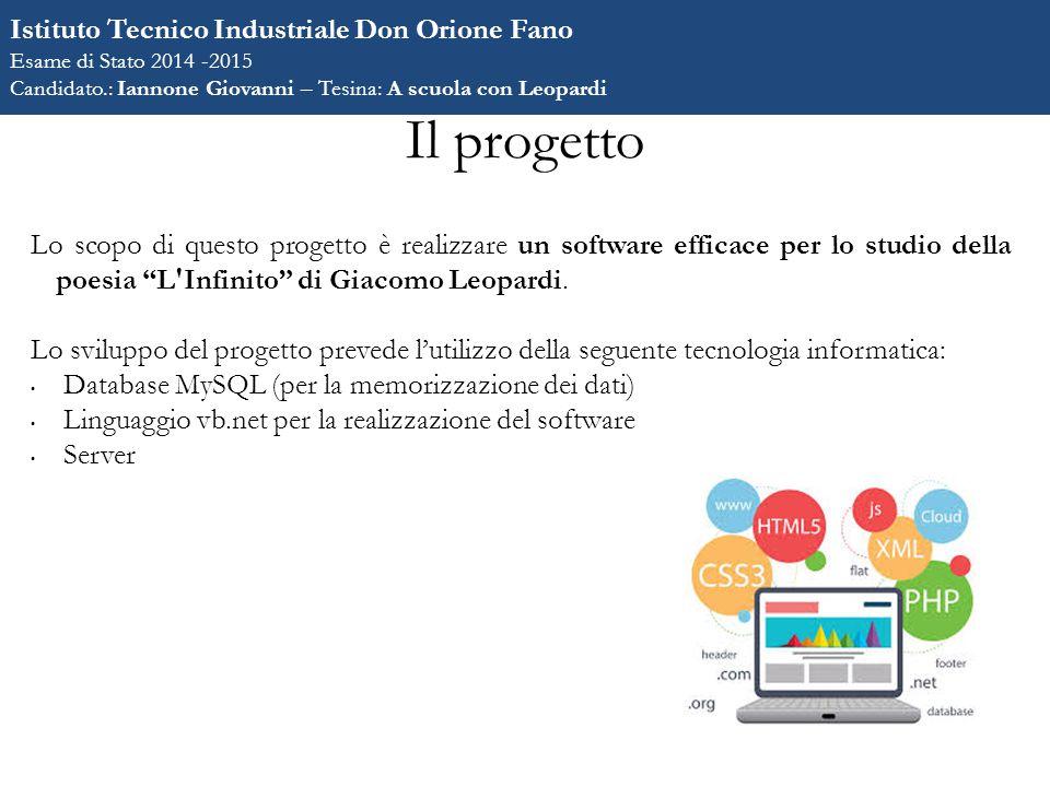 Il progetto Istituto Tecnico Industriale Don Orione Fano