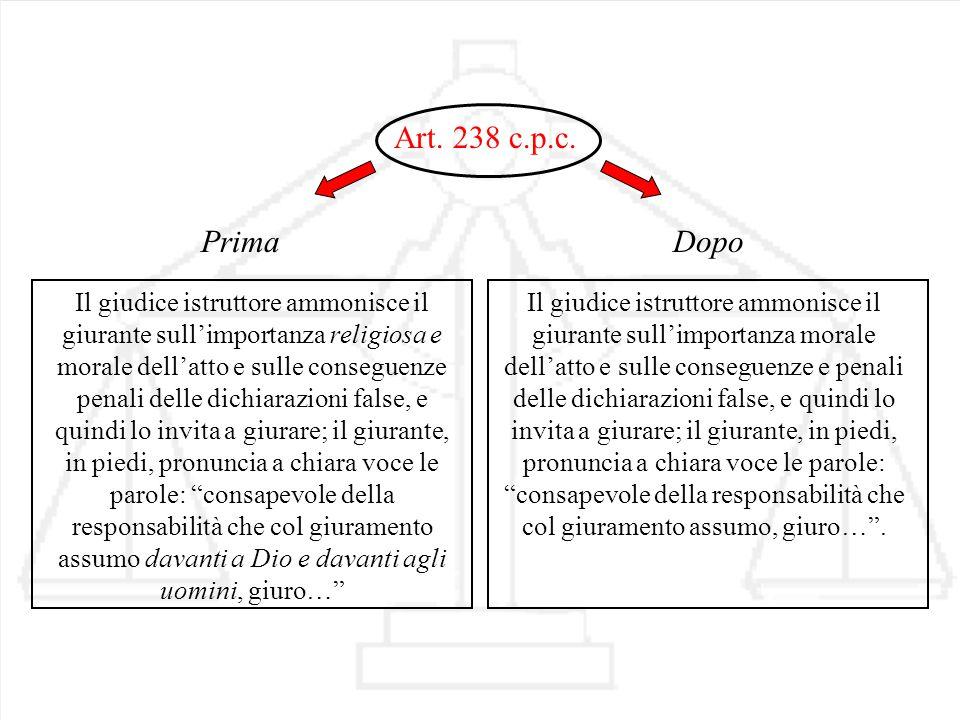 Art. 238 c.p.c. Prima.