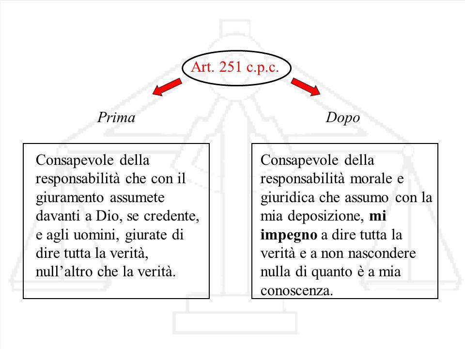 Art. 251 c.p.c. Prima.