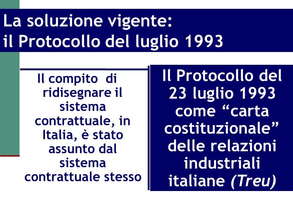 La soluzione vigente: il Protocollo del luglio 1993