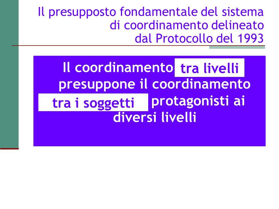 Il presupposto fondamentale del sistema di coordinamento delineato dal Protocollo del 1993