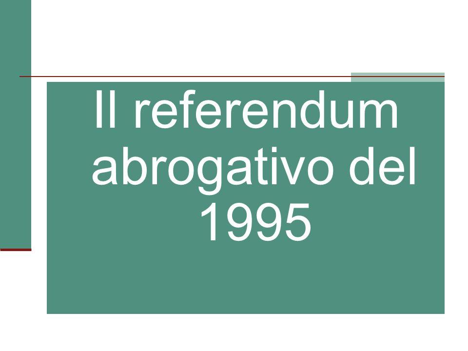 Il referendum abrogativo del 1995