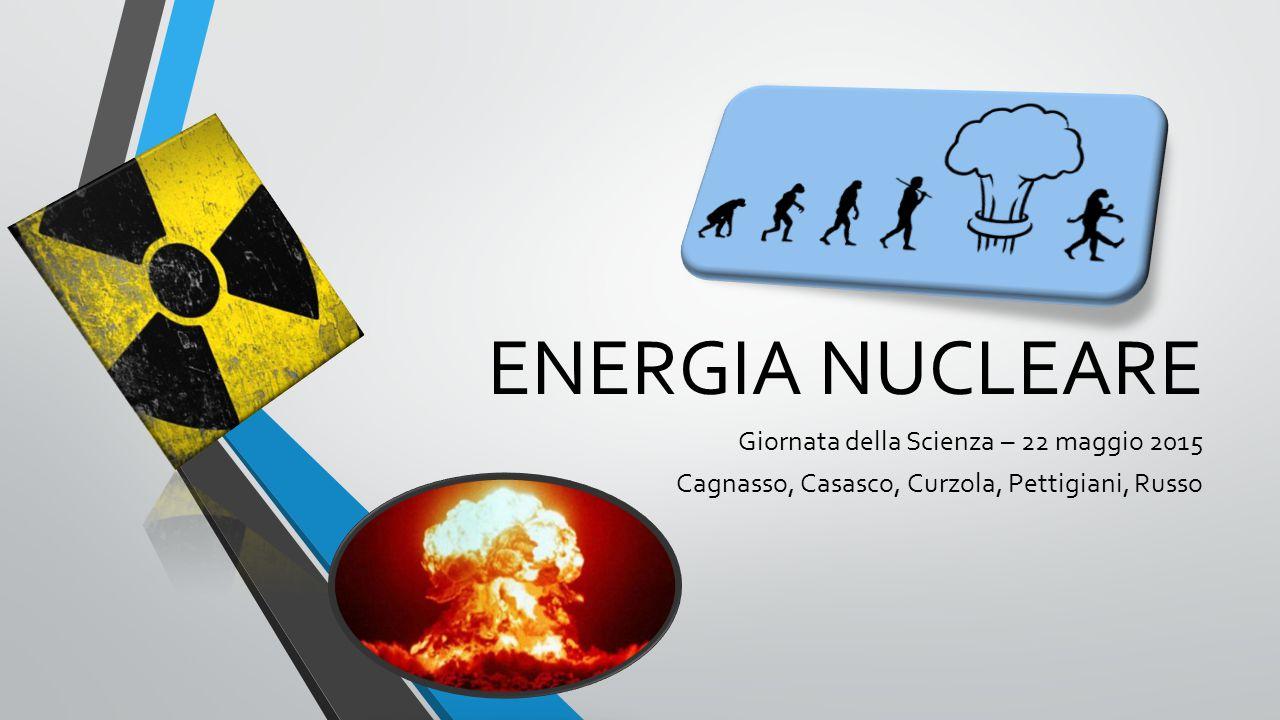ENERGIA NUCLEARE Giornata della Scienza – 22 maggio 2015