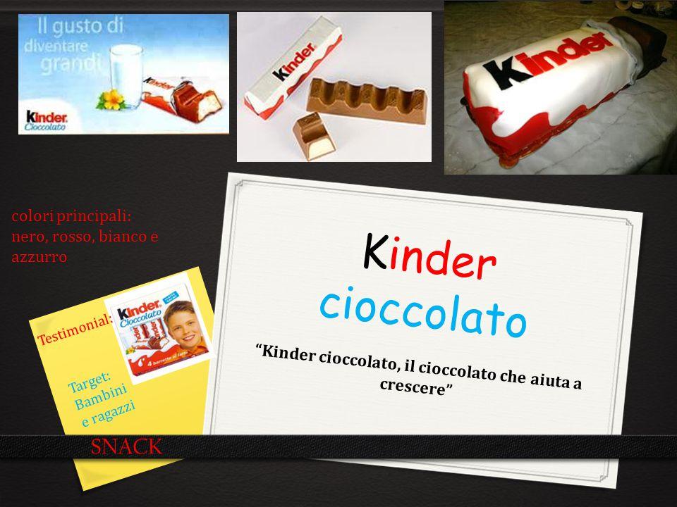Kinder cioccolato, il cioccolato che aiuta a crescere