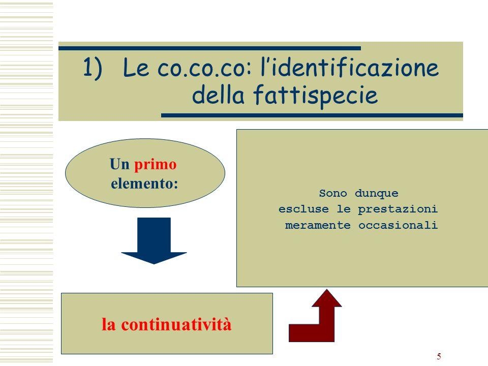 Le co.co.co: l'identificazione della fattispecie