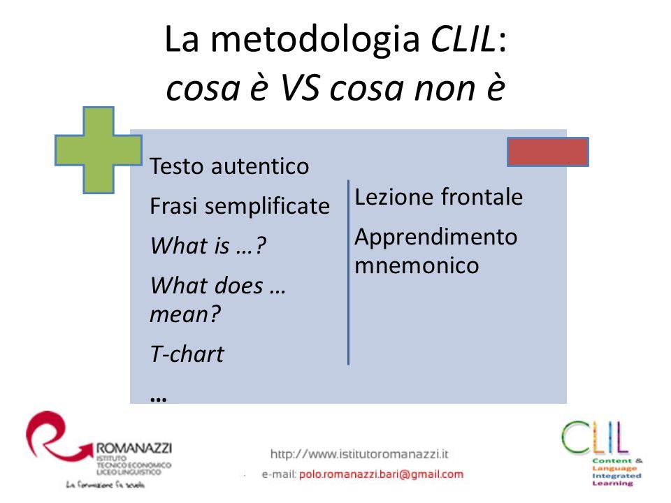 La metodologia CLIL: cosa è VS cosa non è
