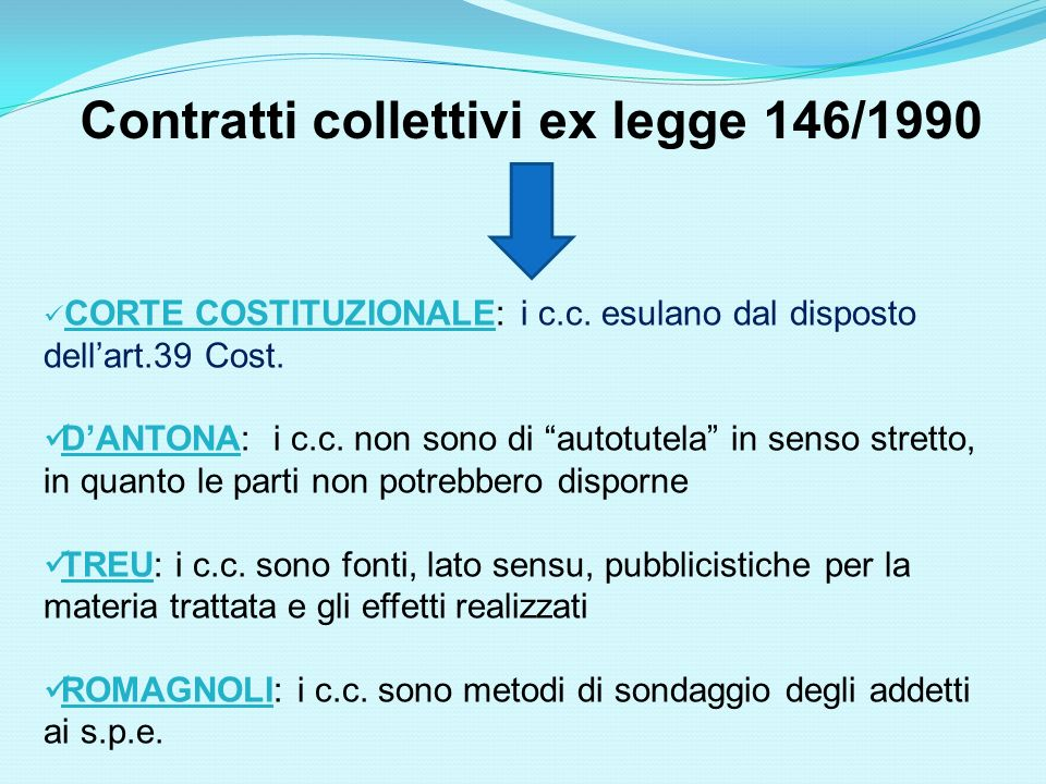 Contratti collettivi ex legge 146/1990