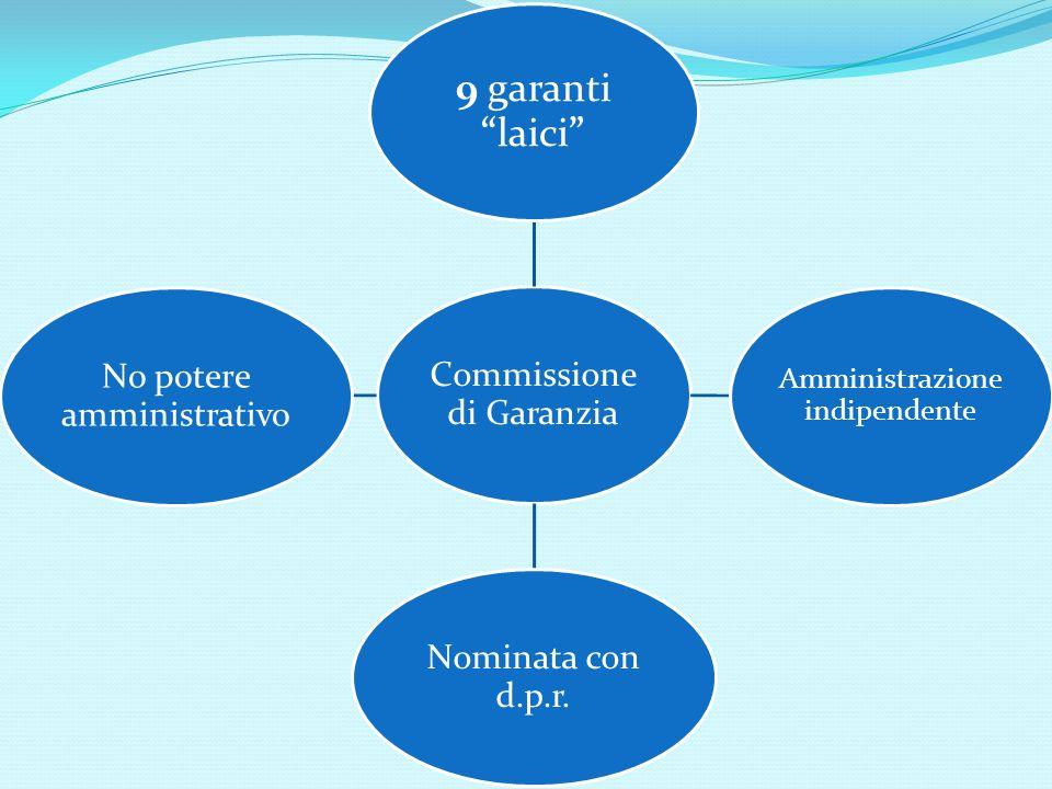 9 garanti laici Commissione di Garanzia Amministrazione indipendente