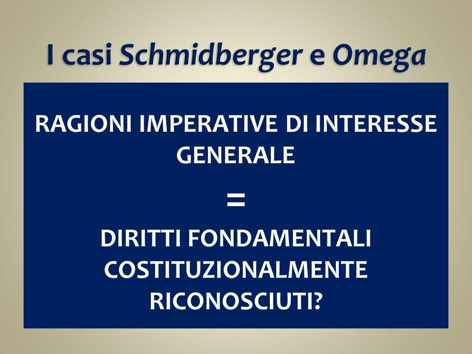 I casi Schmidberger e Omega