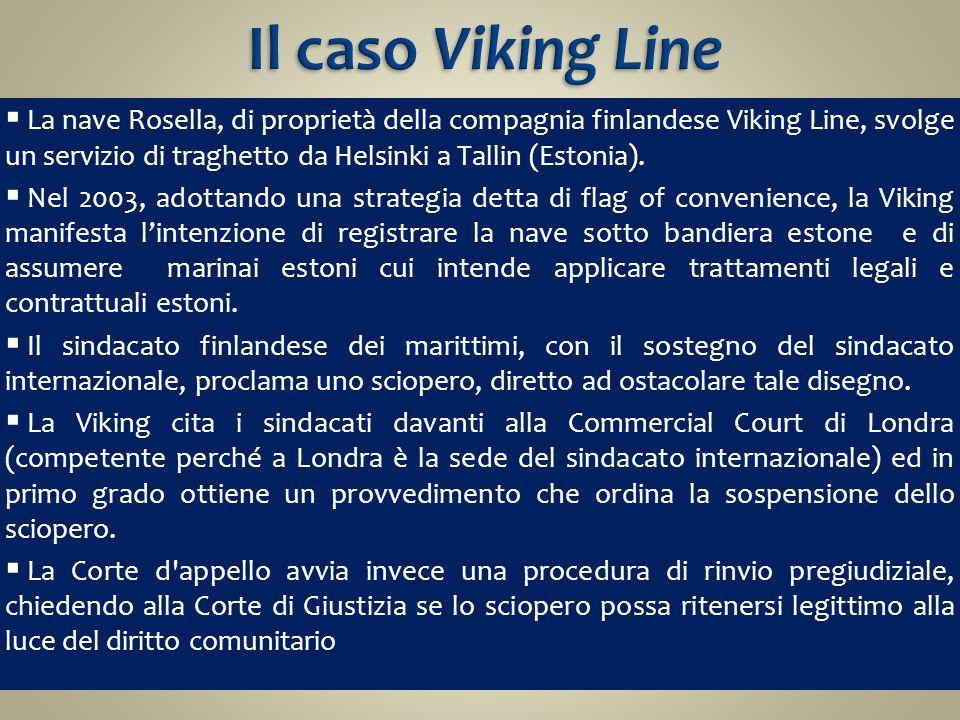 Il caso Viking Line