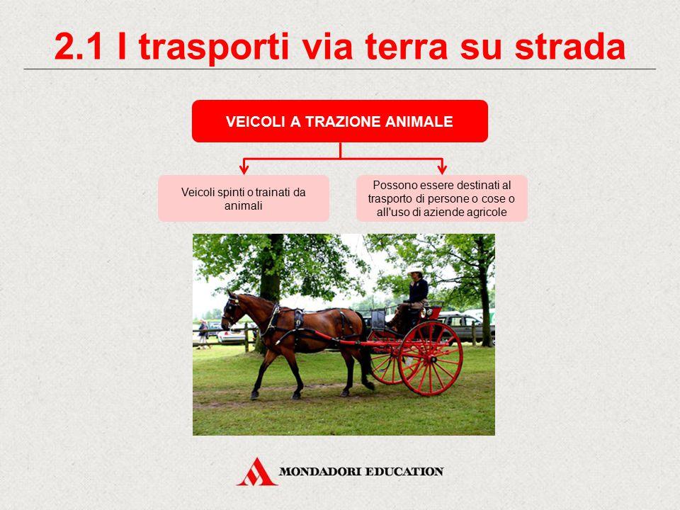 2.1 I trasporti via terra su strada VEICOLI A TRAZIONE ANIMALE