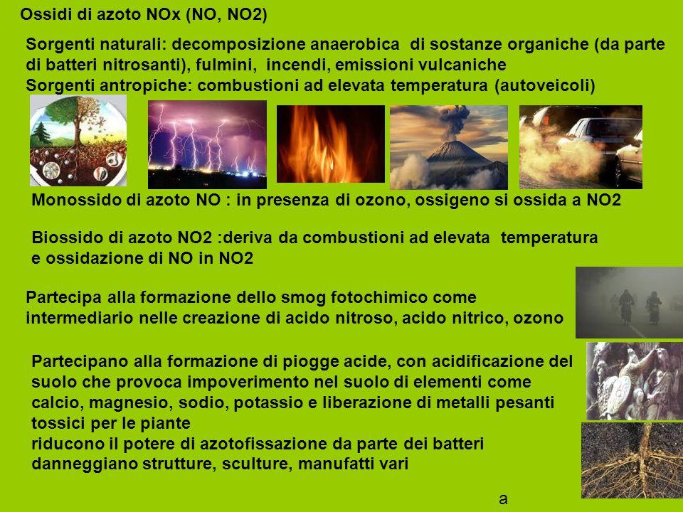 Ossidi di azoto NOx (NO, NO2)