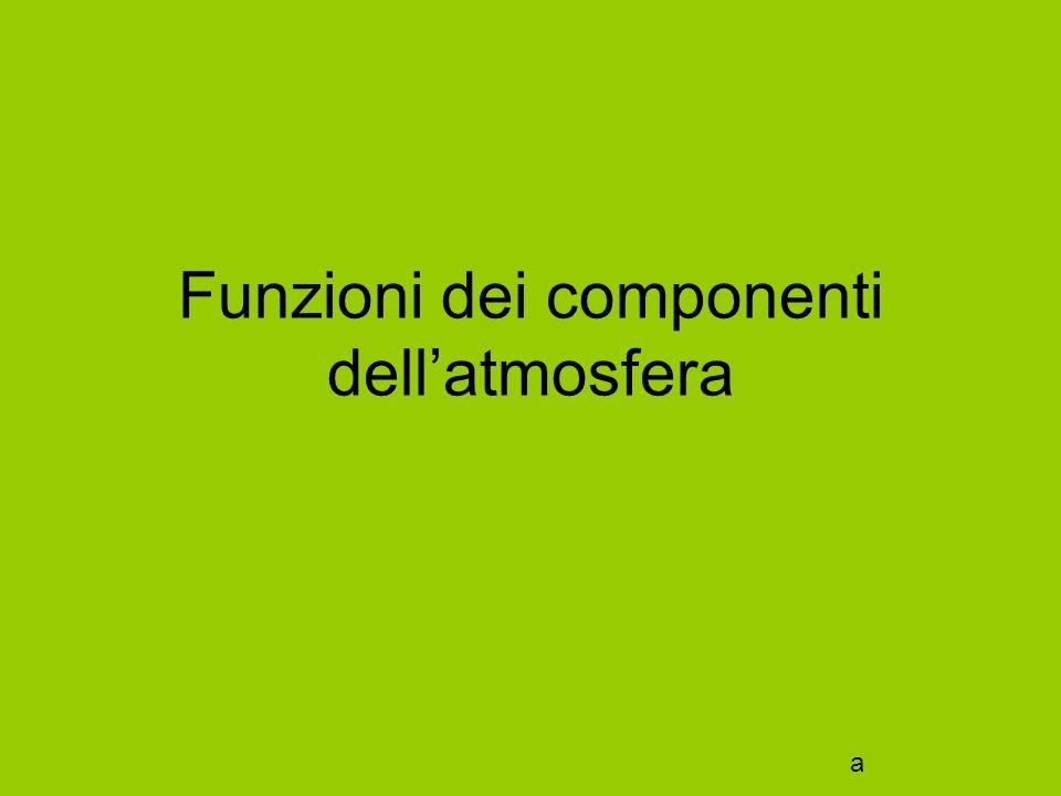 Funzioni dei componenti dell'atmosfera