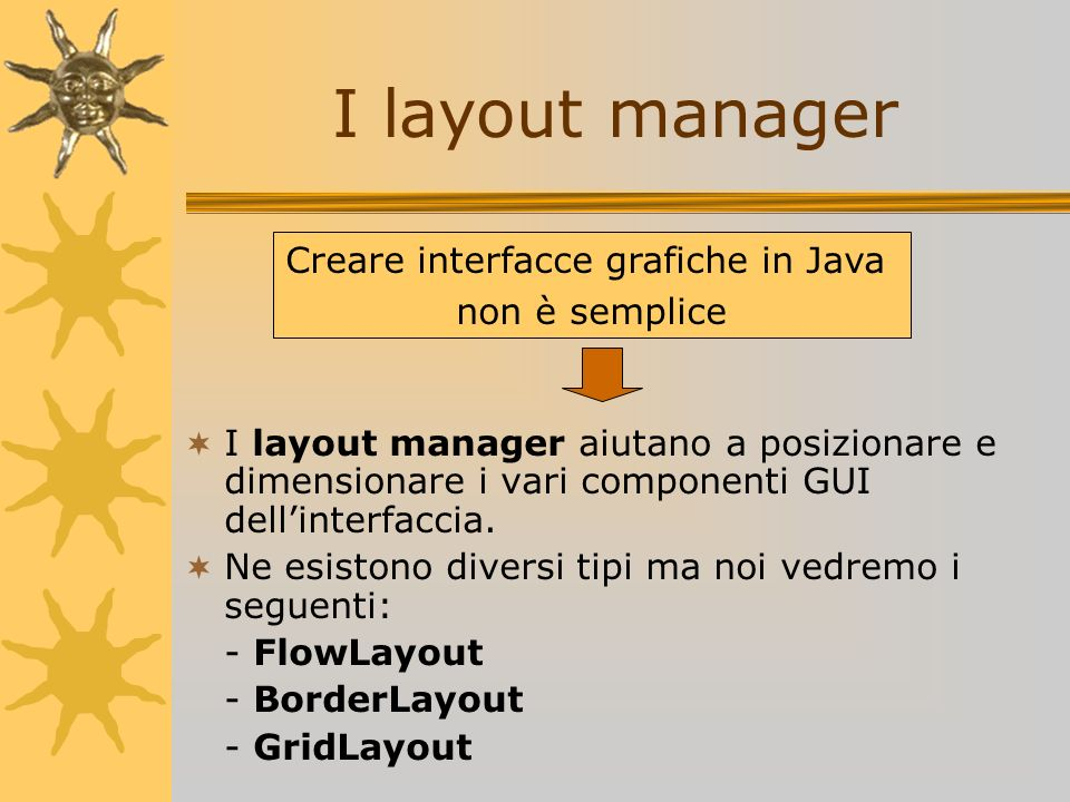 Creare interfacce grafiche in Java