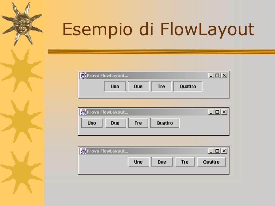 Esempio di FlowLayout