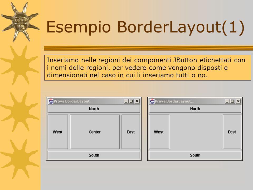 Esempio BorderLayout(1)