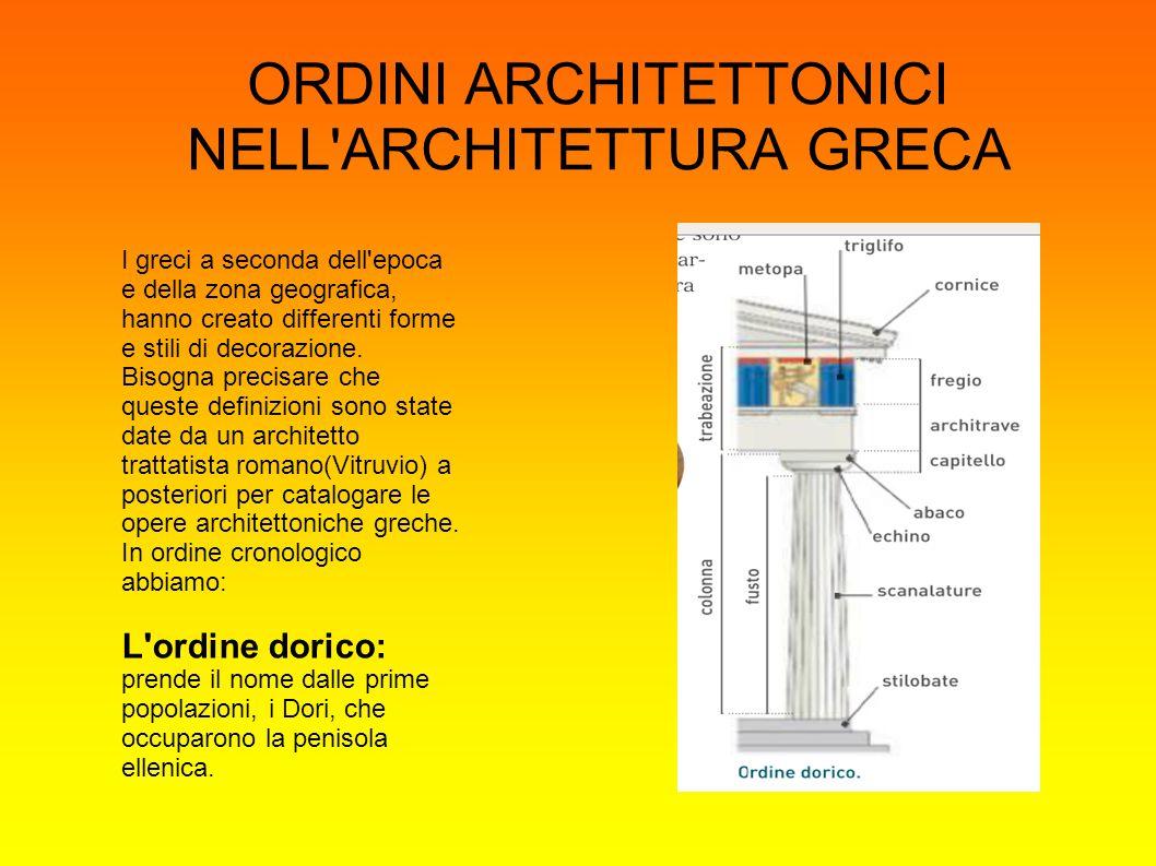 ORDINI ARCHITETTONICI NELL ARCHITETTURA GRECA