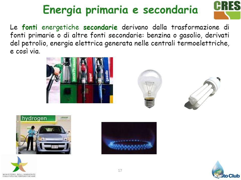 Energia primaria e secondaria
