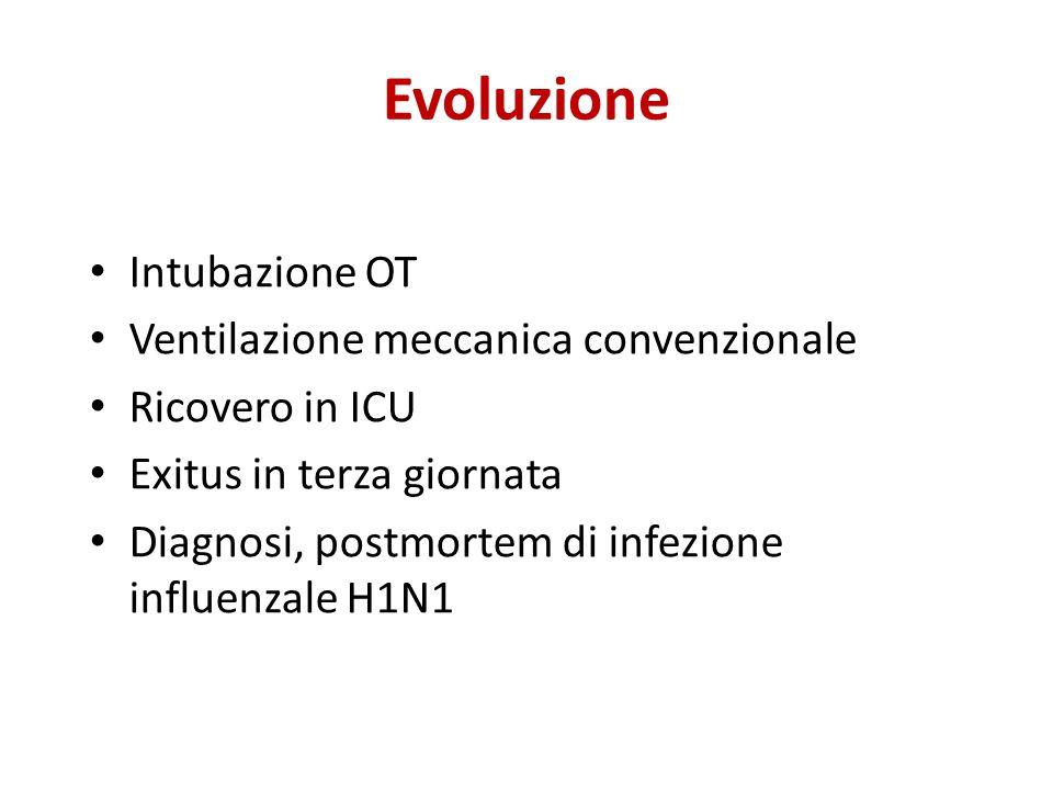 Evoluzione Intubazione OT Ventilazione meccanica convenzionale