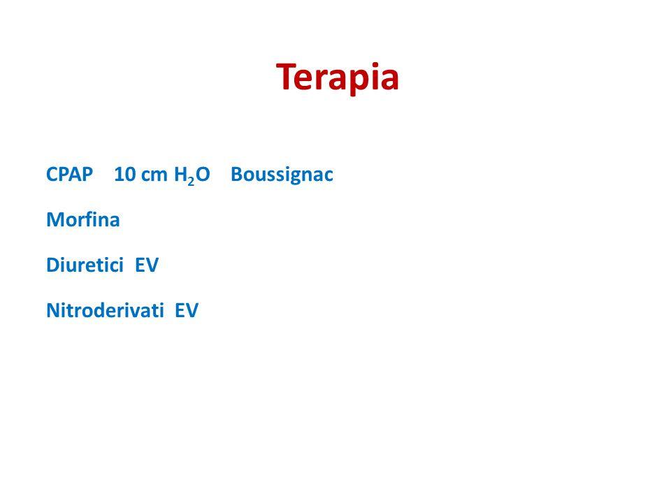 Terapia CPAP 10 cm H2O Boussignac Morfina Diuretici EV