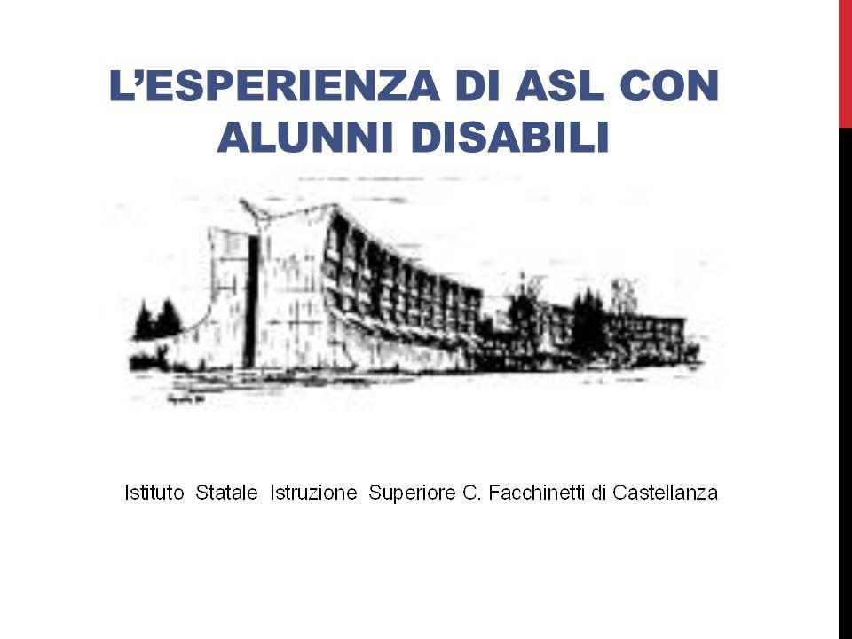 L'esperienza di ASL con alunni disabili