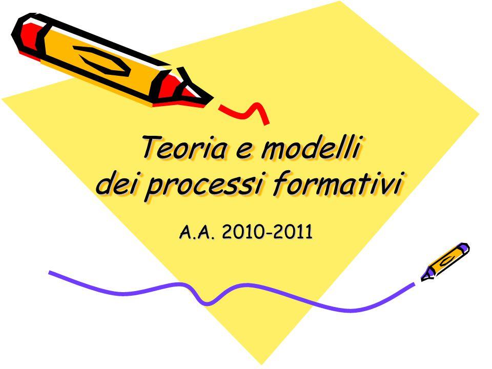 Teoria e modelli dei processi formativi