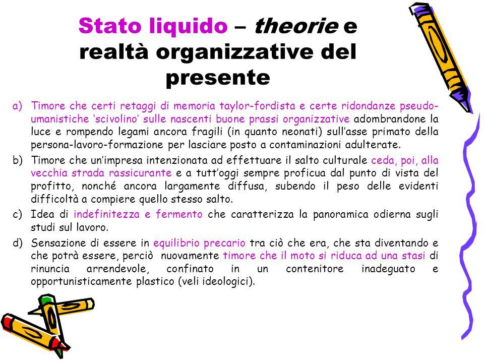 Stato liquido – theorie e realtà organizzative del presente