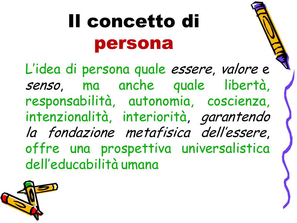 Il concetto di persona