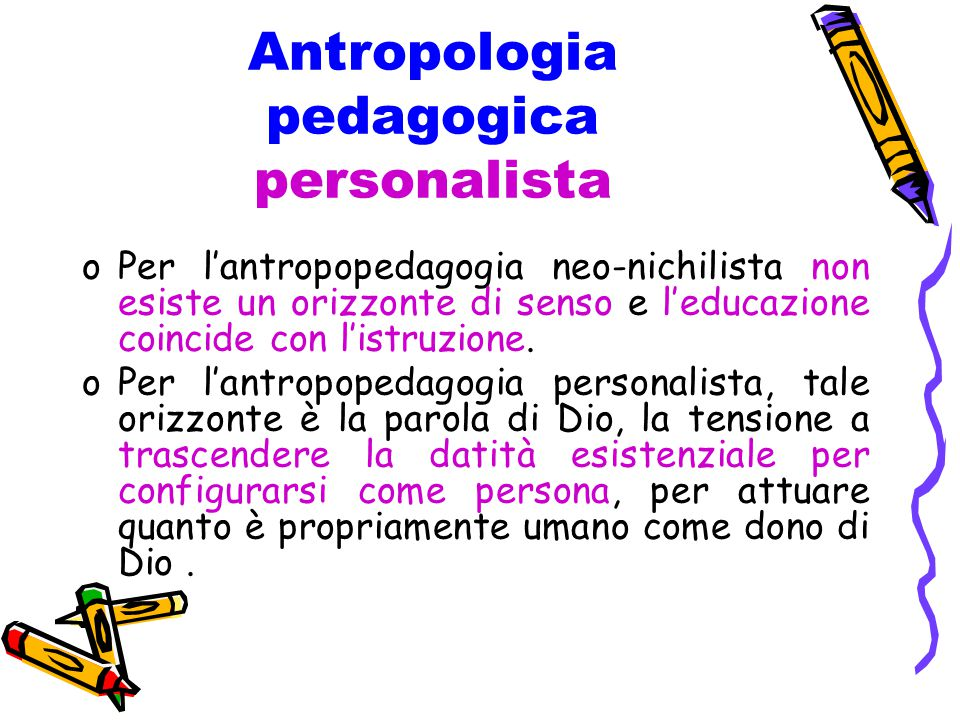 Antropologia pedagogica personalista