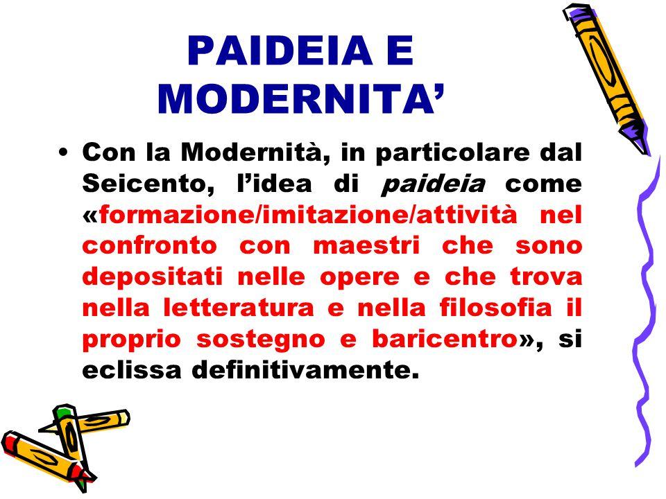 PAIDEIA E MODERNITA'