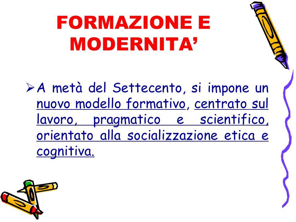 FORMAZIONE E MODERNITA'
