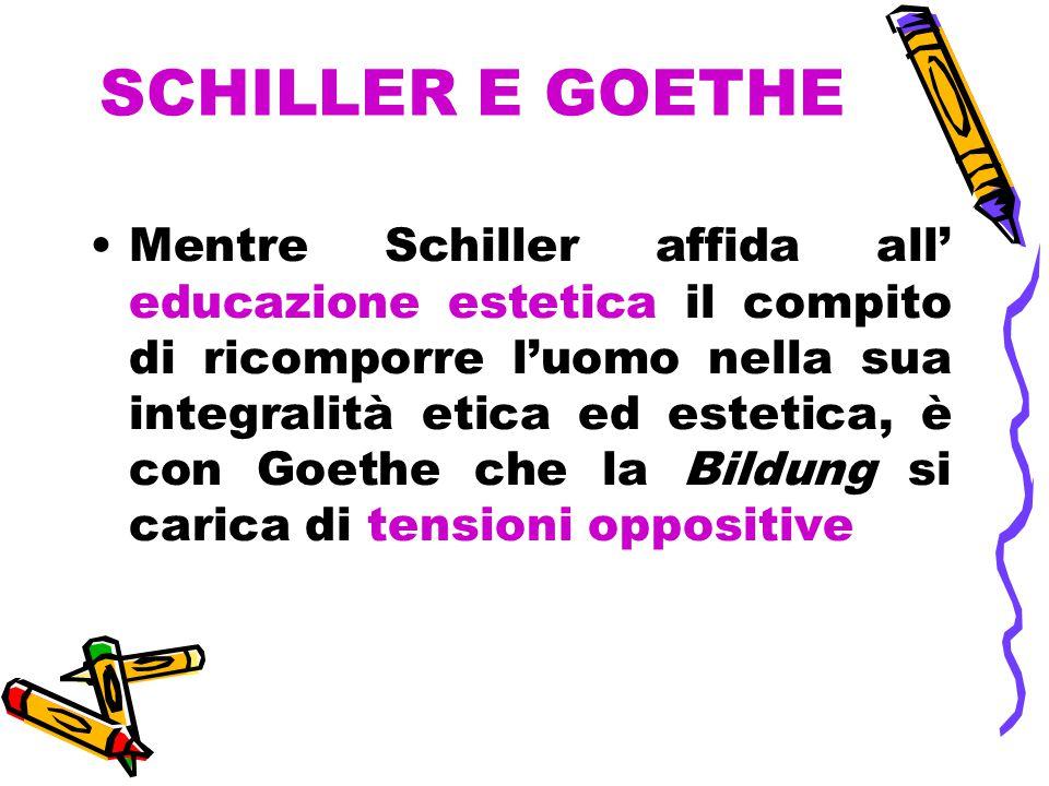 SCHILLER E GOETHE