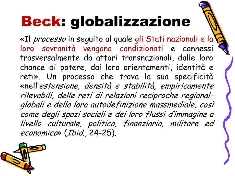 Beck: globalizzazione